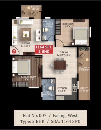saritha-splendor-lsr-2bhk-1164sqft-floor-plan