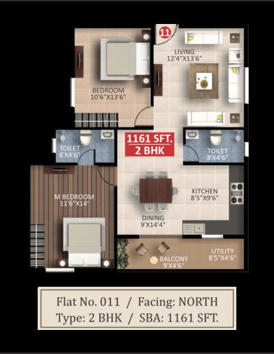 saritha-splendor-lsr-floor-plan-2bhk-1161-sqft-north-facing