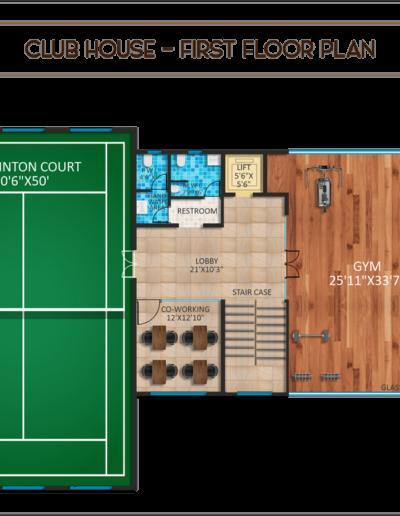 saritha-splendor-club-house-first-floor-plan
